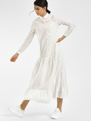 Vero Moda Polka Dot Dobby Shirt Dress