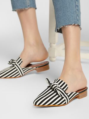 My Foot Couture Monochrome Bow Detail Mules