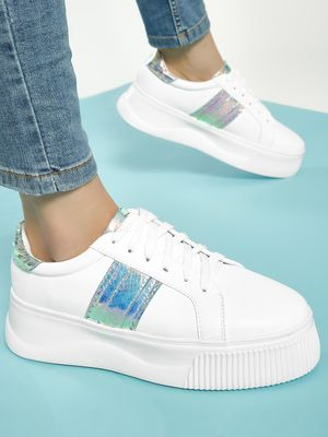 My Foot Couture Holographic Panel Sneakers