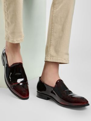 Rodolfo Darrell Two Tone Glossy Finish Loafers
