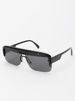 Pataaka Wide Frame Tinted Retro Sunglasses