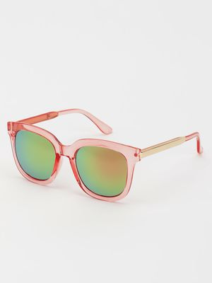 KOOVS Mirrored Lens Retro Sunglasses