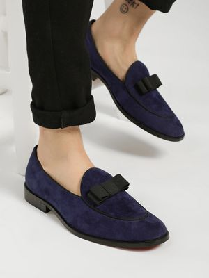 Griffin Suede Bow Detail Loafers