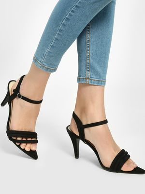 Intoto Suede Tubular Strap Heeled Sandals