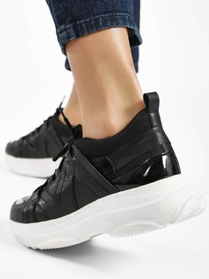 KOOVS Contrast Panel Lace-Up Trainers
