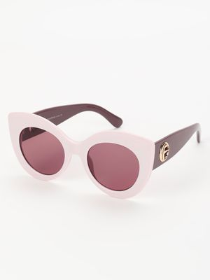 Sneak-a-Peek Wide Frame Cateye Sunglasses