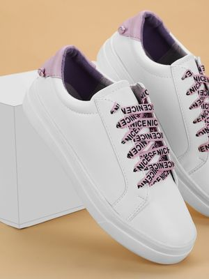 My Foot Couture Printed Lace Up Sneakers