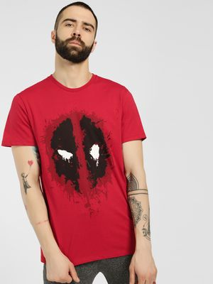 Free Authority Deadpool Placement Print T-Shirt