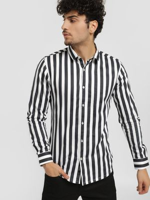 KOOVS Yarn Dyed Stripes Smart Shirt
