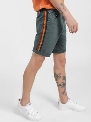K Denim KOOVS Contrast Side Tape Shorts