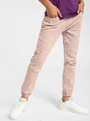 K Denim KOOVS Overdyed Panelled Slim Joggers