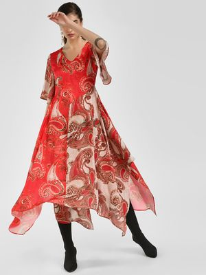 Cover Story Baroque Print Midi Dress