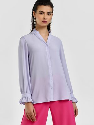 Cover Story Ruflle Detail Casual Shirt