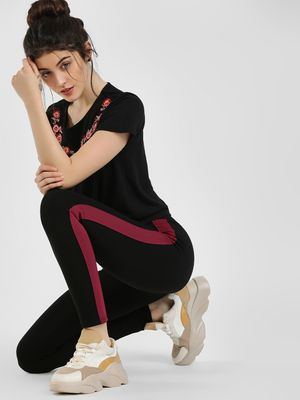 Cover Story Contrast Side Tape Jeggings