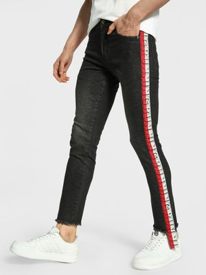 Deezeno Text Side Tape Skinny Jeans