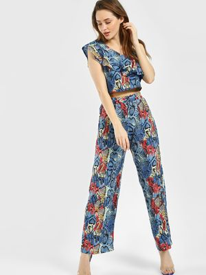 The Gud Look Snake Print Trousers