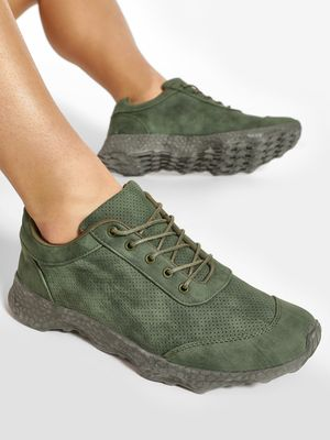 Kindred Perforated Two Tone Trainers