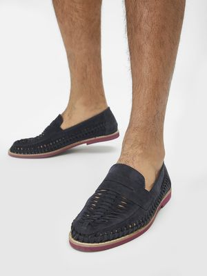 Bolt Of The Good Stuff Suede Weave Penny Loafers