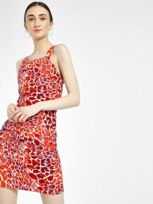 Daisy Street Leopard Print Shift Dress