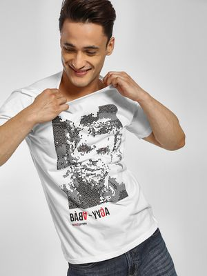 Cant Find My Knees Baba Yaga Placement Print T-Shirt