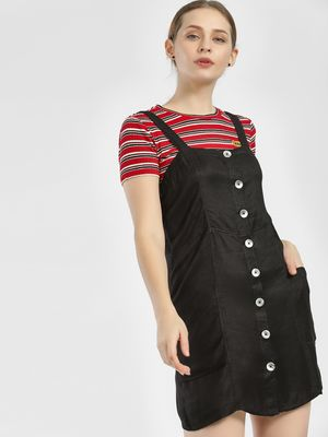 KOOVS Button Down Strappy Shift Dress