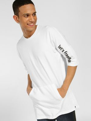 SKULT By Shahid Kapoor Text Embroidered Oversized T-Shirt