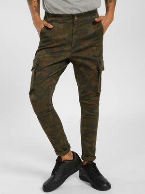 SKULT By Shahid Kapoor Camo Print Cargo Trousers