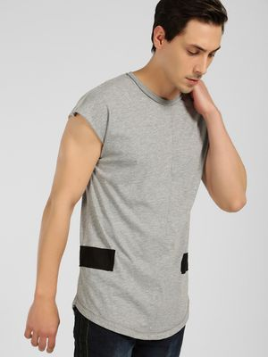 SKULT By Shahid Kapoor Contrast Panel Cap Sleeve T-Shirt