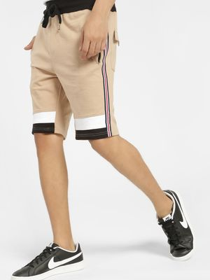X.O.Y.O Panelled Contrast Side Stripe Shorts