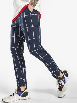 Garcon Windowpane Check Cropped Joggers