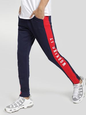 Garcon Slogan Print Side Tape Jog Pants