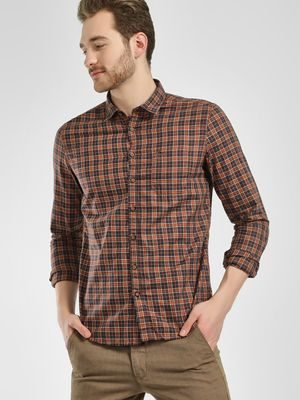 SCULLERS Grid Check Casual Shirt
