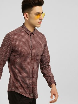 Indigo Nation Moroccan Print Long Sleeve Shirt
