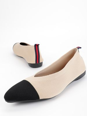 My Foot Couture Colour Block Knit Ballerinas