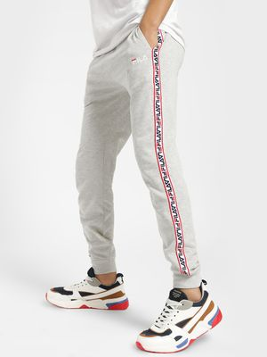 Fila Logo Print Side Tape Joggers