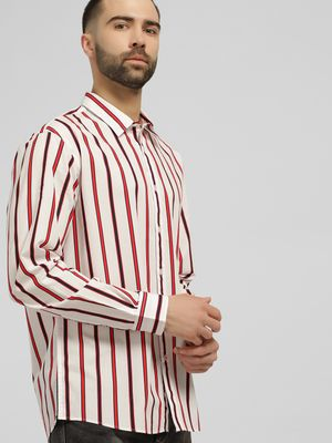 Celio Vertical Stripe Oversized Shirt