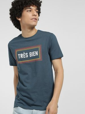 Celio Slogan Placement Print T-Shirt