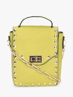 Koko Fashion Stud Embellished Mini Sling Bag