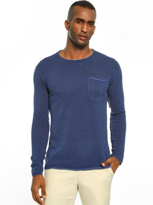 Akiva Patch Pocket Crew Neck Pullover