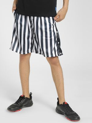 Soulstar Vertical Stripe Popper Shorts