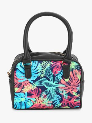 Gusto Tropical Print Mini Handbag