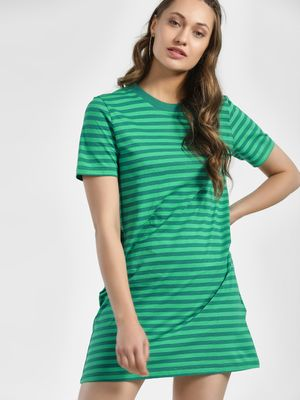 Only Horizontal Stripe T-Shirt Dress