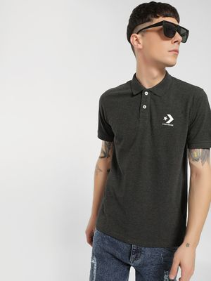 Converse Rubberised Logo Polo Shirt