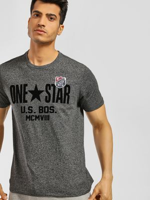 Converse Logo Badge Applique Embossed T-Shirt