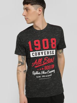 Converse Embroidered Patch Slogan Print T-Shirt