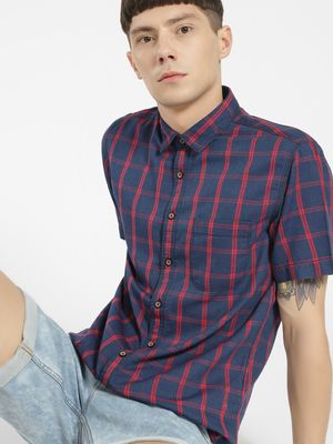 SCULLERS Multi-Check Slim Fit Shirt