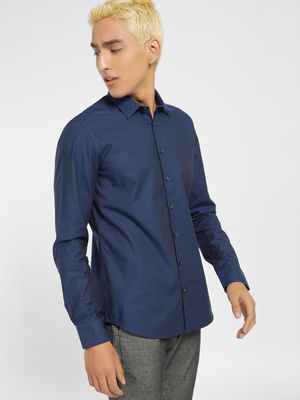 SCULLERS Woven Slim Fit Casual Shirt