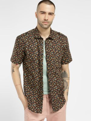 Mint & Cotton Floral Print Casual Shirt
