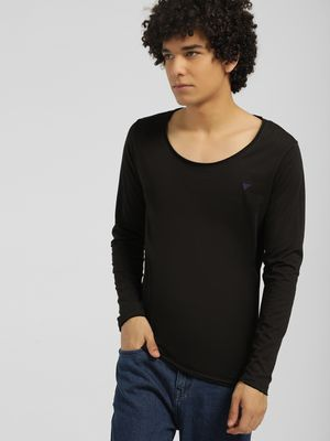 Blue Saint Scoop Neck Long Sleeve T-Shirt