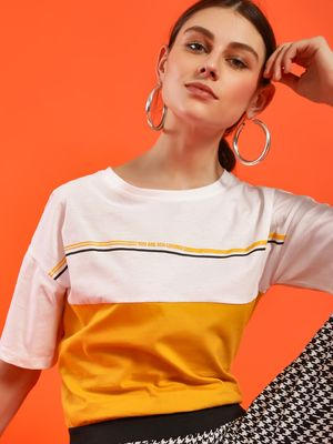 NUSH Colour Block Short Sleeve T-Shirt